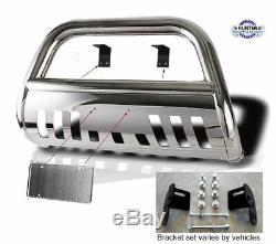 09-Up Dodge Ram 1500 chrome Bull Bar Guard Push in Stainless Steel Chrome
