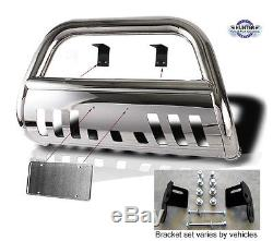 2009-2017 Ford F150 4wd chrome Guard Push Bull Bar in Stainless Steel Bumper