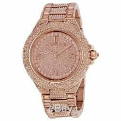 2019 NEW Michael Kors MK5862 Camille Rose Gold Tone Pave Glitz Ladies Watch