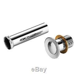 2.5 Solid Brass Pop Up Drain Faucet Vessel Sink Push Button Bathroom Standard