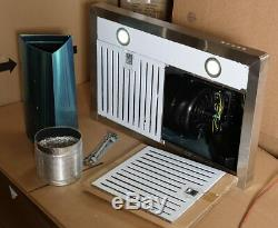 30 Inch Wall Mount Stove Kitchen Hood (open Box) Push Button, 3 Fan Speeds