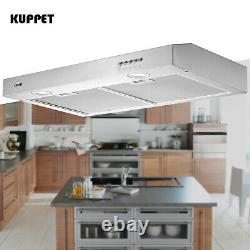 30 Range Hood Under Cabinet Stainless Steel Push Panel Kitchen with Carbon Filter