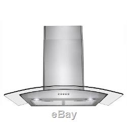 30 Stainless Steel Made Wall Mount Push Button Control Kitchen Range Hood Vent