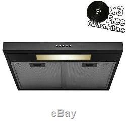 30 Under Cabinet Black Painted Finish Stainless Steel Push Panel Range Hood
