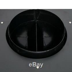 30 Under Cabinet Black Painted Finish Stainless Steel Push Panel Range Hood Fan