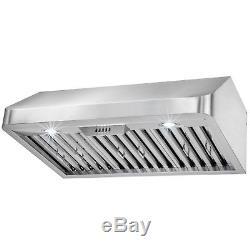 30 Under Cabinet Push Button Control Stainless Steel Kitchen Vent Range Hood
