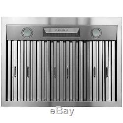 30 Under Cabinet Stainless Steel Push Panel Kitchen Range Hood Cooking Fan