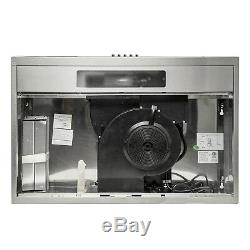 30 Under Cabinet Stainless Steel Push Panel Kitchen Range Hood with Carbon Filter