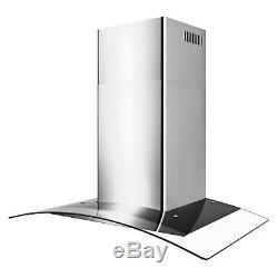 30 Wall Mount Kitchen Range Hood 3 Speed Push Button Control
