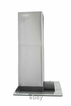 30 Wall Mount Range Hood 400CFM 3 Speed Push Control LED Light Glass Fan Filter