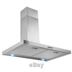 30 Wall Mount Stainless Steel Push Panel Kitchen Range Hood Cooking Fan