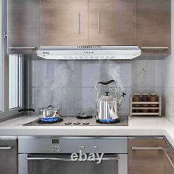 36 Inch Stainless Steel Kitchen Range Hood 205CFM 3-Speed Adjustable Push Button