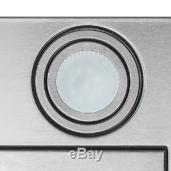 36 Stainless Steel Island Mount Range Hood Modern Glass Push Button Control