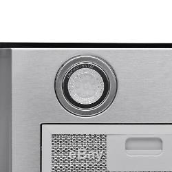 36 Stainless Steel Wall Mount Range Hood Push Button LED Light Lamp Mesh Filter