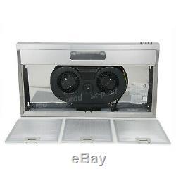 36 Under Cabinet Kitchen Range Hood Stainless Steel Push Button 160W 3-Speed CA