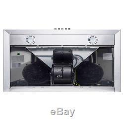 36 Wall Mount Stainless Steel Push Panel Kitchen Range Hood Cooking Fan