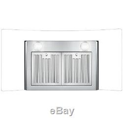 36 in. Ducted Wall Mount Range Hood with Push Buttons, Stainless Steel OPEN BOX