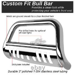 3Polish Bull Bar Push Bumper Grille Guard for Chevy Blazer Suburban Tahoe 88-00