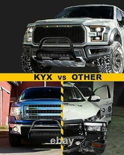 3'' Bull Bar Push Brush Bumper Grille Guard With Led Light For 04-20 Ford F-150