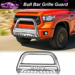3 Bull Bar Push Bumper Grill Grille Guard For 2007-2020 Toyota Tundra Sequoia