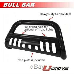 3 For 2009-2015 Honda Pilot Black Brush Push Bull Bar Front Bumper Grille Guard