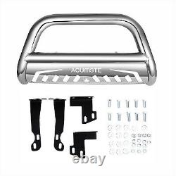 3 Silver Bull Bar for 2005-2020 Nissan Frontier Grille Push Guard Front Bumper