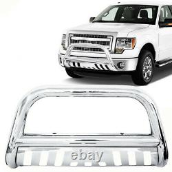3'' Stainless Steel Chrome Bull Bar Grille Push Guard For Ford F150 2004-2019