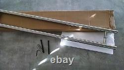 48 inches Entry Door Push / Pull Modern Handle stainless steel back to back