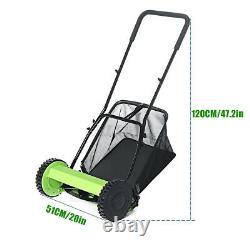 5 Blades Lawnmower Hand Push Lawn Mower Manual Reel Grass Catch Manchine Tool