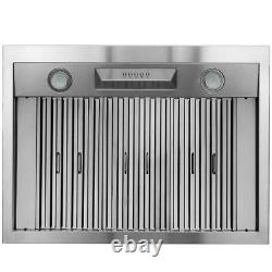 AKDY 36Under Cabinet Range Hood in Stainless Steel with LEDs&Electronic Push