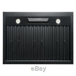 AKDY RH0345 30 Under Cabinet Black Stainless Steel Push Panel Range Hood