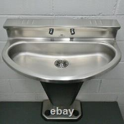 Acorn Hand Wash Fountain 3402-2-F-VPB-MXTP, Stainless Steel Foot Push Sink