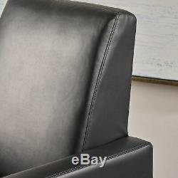 Arvin Modern Push Back High Leg Recliner with Stainless Steel Legs