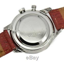 Auth SEIKO Vintage one push chrono 5717-8990 Hand-winding Men's Watch I#92489