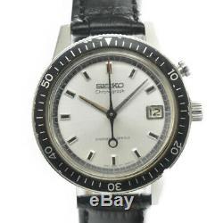 Auth Vintage SEIKO 5717-8990 One push chronograph Hand-winding MensWatch G#86609