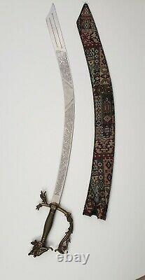 Belly Dance Balancing Scimtar Sword COLLECTION ORIGINAL SAROYAN Sword + CASE