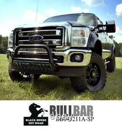Black Horse for 2011 2016 ford f250 f350 f450 f550 bull bar push guard chrome