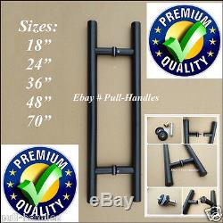 Black Pull / Push Handle for Entry Entrance Glass Door Ladder Interior Exterior