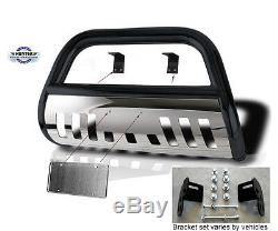 Bull Bar 2005-15 Toyota Tacoma Push bumper guard in black stainless steel