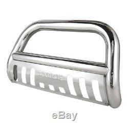 Bull Bar For Chevy Silverado Gmc Sierra 1500 Chrome Push Bumper Grille Guard
