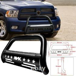 Bull Bar Front Grille Brush Push Bumper Guard For 09-18 Dodge Ram 1500 With Light