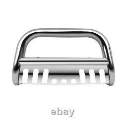 Bull Bar Push Bumper Stainless Chrome For 1999-2007 Chevy Silverado/Sierra 1500