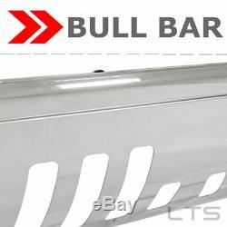 Bull Bar Stainless Brush Push Bar Grill Guard For 2014-2018 Gmc Sierra 1500