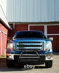 Bumper Grille Guard Black Steel For 2004-2020 Ford F-150 Bull Bar Push Brush