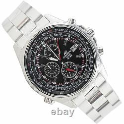 Casio EF527D-1A Edifice Men's Chronograph Watch Black Dial 100M Stainless Steel