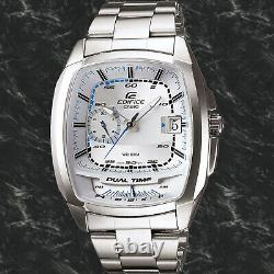 Casio EF-321D-7A Mens Edifice White Analog Watch Steel 10 Year Battery 100M New