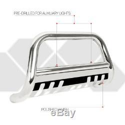 Chrome 3Front Bumper Bull/Push Bar Brush Grille Guard for 16-17 Pilot/Ridgeline