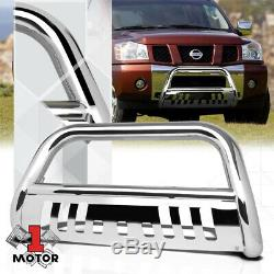 Chrome 3 Bull/Push Bar Brush Grille Guard for 05-16 Xterra/Pathfinder/Frontier