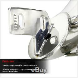 Chrome 3 Bull/Push Bar Brush Grille Guard for 07-14 Suburban/Avalanche/Yukon