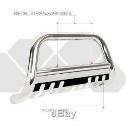Chrome 3 Bull/Push Bar Grille Guard for 99-07 Silverado/Avalanche/Suburban 1500